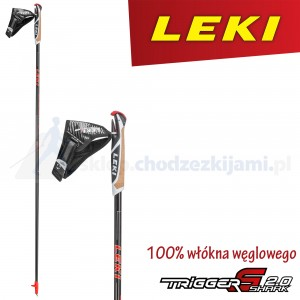 Kije nordic walking LEKI Walker Platinium black - red